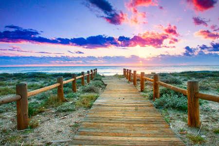 Sunset Beach-Dieses Foto von hdr Technik gemacht Standard-Bild - 17756139