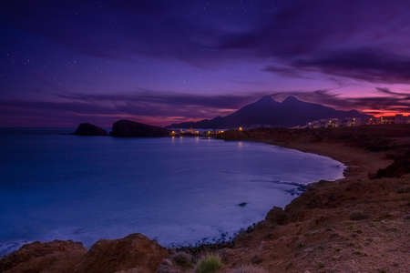 La Isleta del Moro coast of the natural park of Cabo de Gata, Almeria, Spain. This photo make long expusore and ND8 filter photo