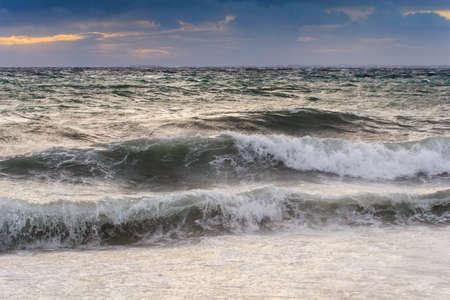 View of storm seascape in the Almeria coast, Spain Stock Photo - 18181069