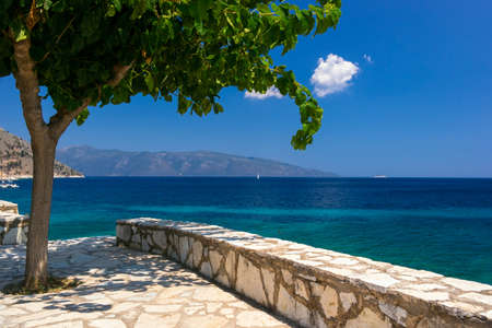 Kefalonia beach and Ionian sea in the Greece photo