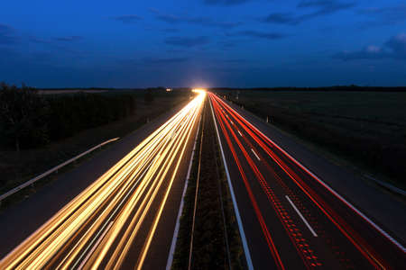 Cars speeding on a highway, Hungary photo