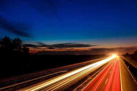 Cars speeding on a highway, Hungary