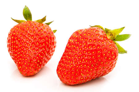 Strawberries berry isolated on white background photo