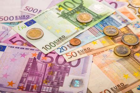Euro money bank bills