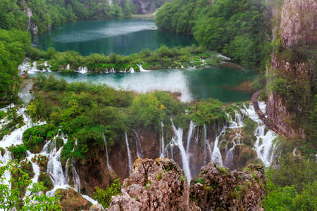 waterfalls waterfall: Waterfalls in Plitvice National Park, Croatia