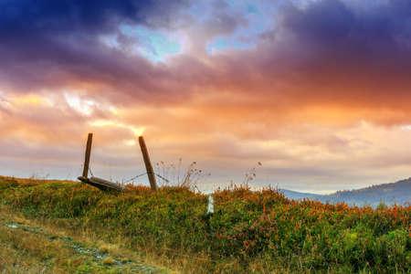 Landscape at the sunrise in Transylvania-Romania photo