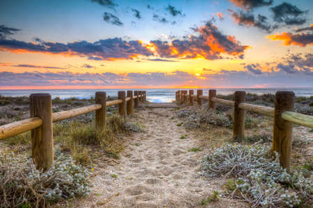 Sunset beach in Gabo de Gata, Almeria, Spain. -This photo made by hdr technic photo