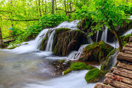 Plitvice lakes of Croatia - national park summer photo
