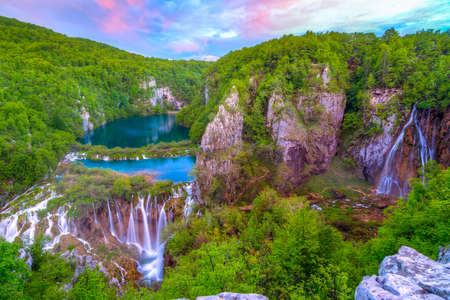 Waterfalls in Plitvice National Park, Croatia