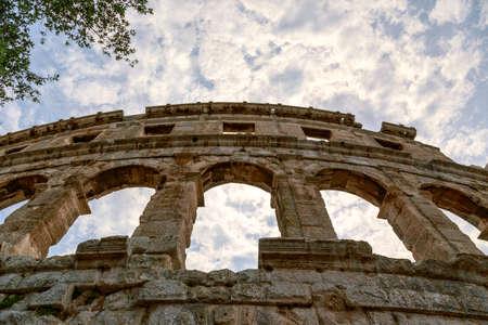 roman amphitheater: Famous ancient Roman Amphitheater - Arena, 1st. century, Pula, Croatia.