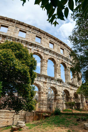 1st century: Famous ancient Roman Amphitheater - Arena, 1st. century, Pula, Croatia.