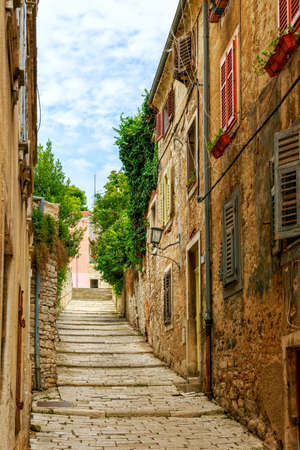 Cozy and narrow streets in Pula photo