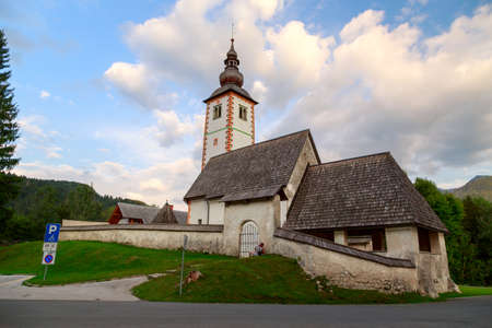 bohinj: Church of St John the Baptist, Bohinj Lake, Slovenia
