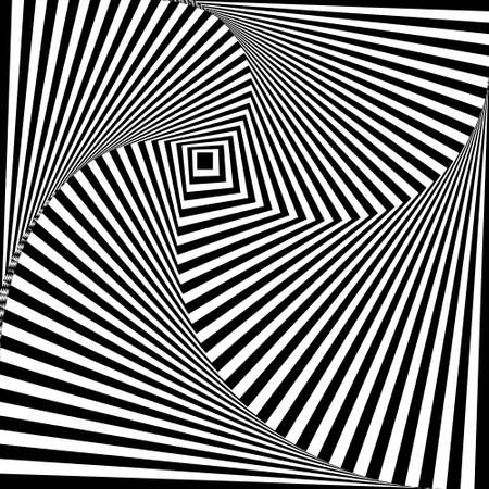 A black and white optical illusion vector background
