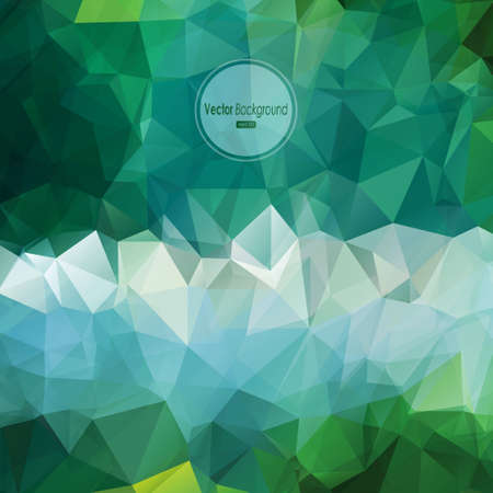 Vector cover design, multicolored abstract polygonal geometric background  Vector