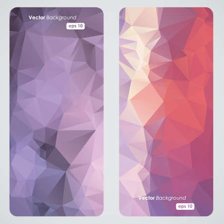 Abstract geometric triangular banners set Vector