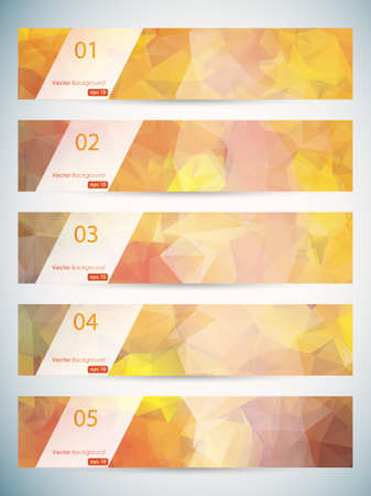 triangular: Abstract geometric triangular banners set  Illustration