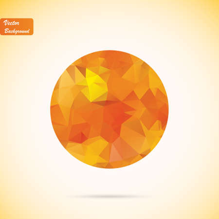 Abstract polygonal vector background Vector