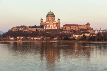 right bank: Esztergom - city in northern Hungary, on the right bank of the river Danube, which forms the border with Slovakia there. Its cathedral, Esztergom Basilica is the largest church in Hungary.