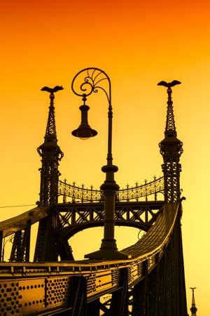 Sunset at Liberty Bridge - Budapest, Hungary photo