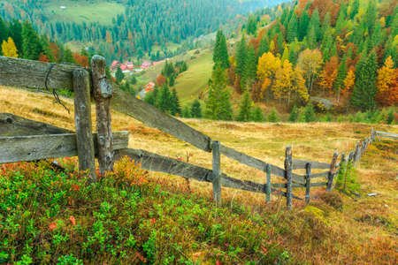 Wonderful autumn hillside in Transylvania Romania photo