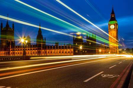 The Houses of Parliament and Big Ben at night photo