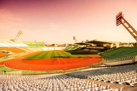 puskas: Old Puskas Ferenc football stadion in Budapest, Hungary. Stock Photo