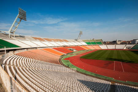 Old Puskas Ferenc football stadion in Budapest, Hungary. Stock Photo