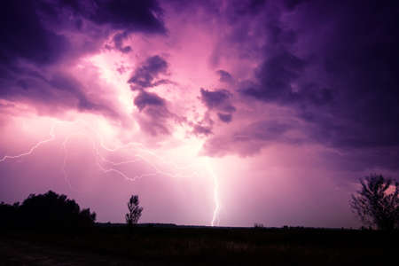 weather  thunder: clouds and thunder lightnings and storm in Hungary