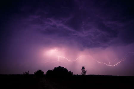 lightnings: clouds and thunder lightnings and storm in Hungary