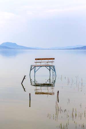 balaton: Lake Balaton in Hungary in summer