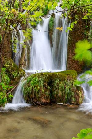 waterfall: Waterfalls in Plitvice National Park, Croatia
