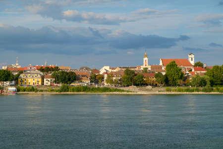 vac: View of Vac city near the river Danube, Hungary