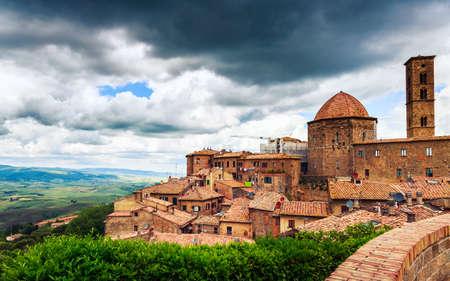 italy culture: Ancient center of village Volterra, Tuscany, Italy
