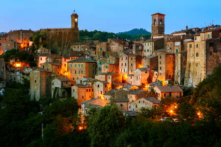 roof light: Beautiful medieval town in Tuscany, Sorano-(Grosseto, Tuscany, Italy)