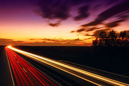 speed: Cars speeding on a highway, Hungary