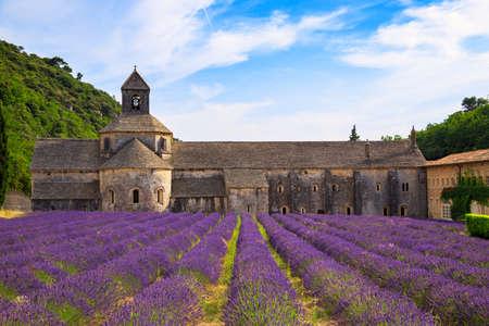 senanque: An ancient monastery Abbaye Notre-Dame de Senanque ( Abbey of Senanque). Vaucluse, France