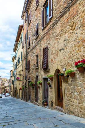 volterra: Street of the medieval village Volterra, province of Pisa, Tuscany, Italy