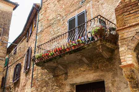 volterra: Beautiful view of old traditional houses  in the historic town of Volterra, province of Pisa, Tuscany, Italy