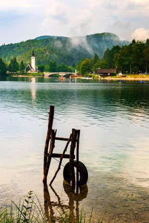 john the baptist: Church of St John the Baptist, Bohinj Lake, Slovenia