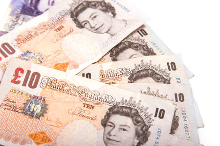 A close-up photograph of Sterling currency