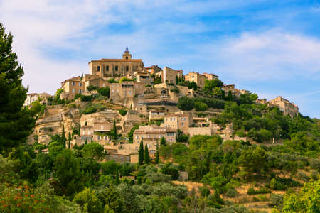 vaucluse: Gordes medieval village. Typical small town in Provence, Southern France. Stock Photo