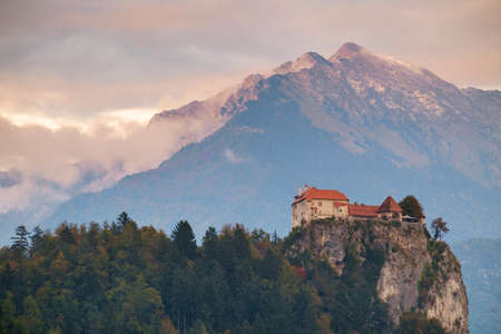 karavanke: Bled with  castle and mountains in background, Slovenia, Europe