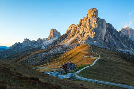 sella: La Gusela, Nuvolau gruppe, South Tirol, dolomites mountains, Passo Giau, Dolomites, Italy
