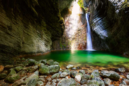 Beautiful Kozjak waterfall, Triglav national park, Slovenia