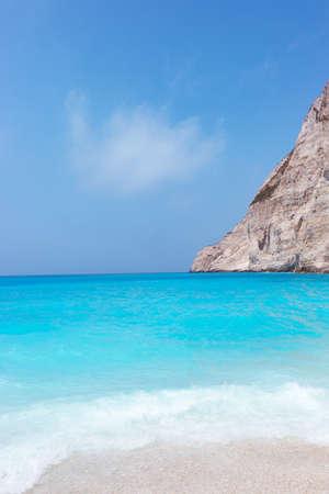 Amazing landscape  of Navagio beach on Zakynthos island in Greece, Europe Stock Photo