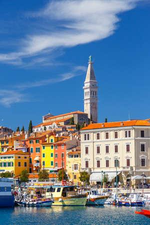 Beautiful colorful medieval town of Rovinj Istria, Istrian peninsula, Croatia, Europe Banco de Imagens