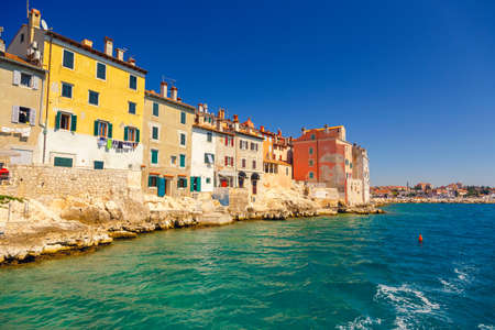 Beautiful colorful medieval town of Rovinj Istria, Istrian peninsula, Croatia, Europe 스톡 콘텐츠