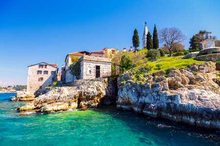 Panoramic view at the old village of Rovinj Istria Croatia Stock fotó