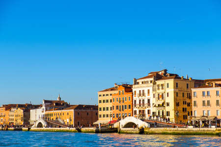 Beautiful panoramic view of Venice, view from the seaside. Italy Archivio Fotografico